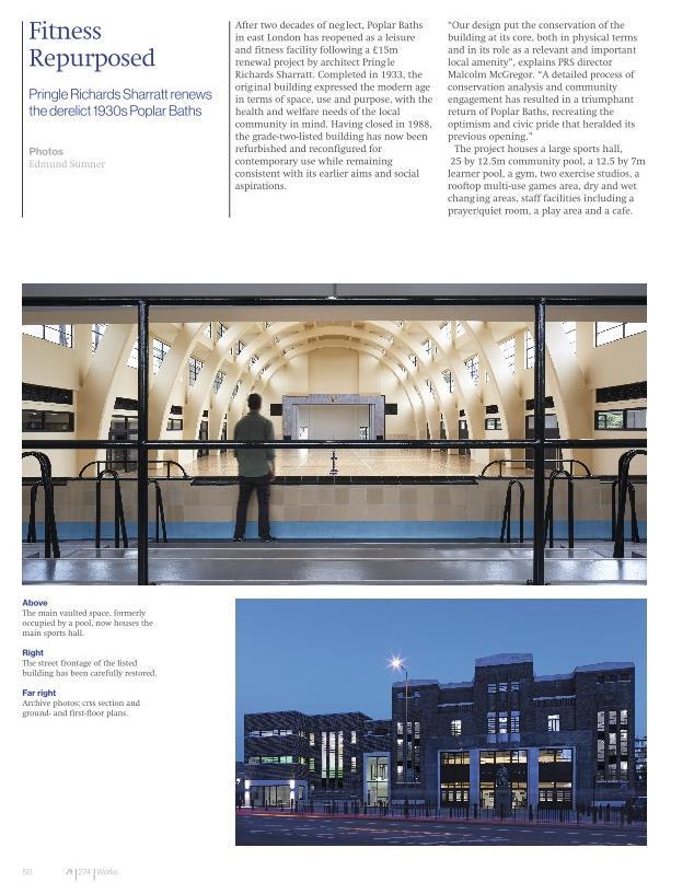 Poplar Baths - PRS - Architecture Today page 1